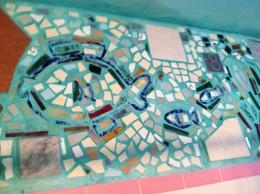 Indoor Bathroom Mosaic
